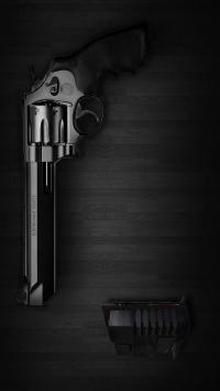 弹药 枪支 漆黑