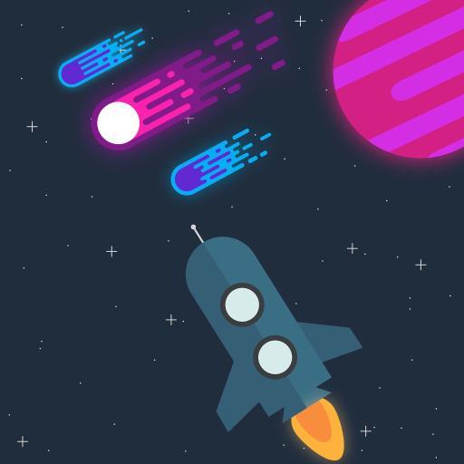 创意插画 火箭 行星