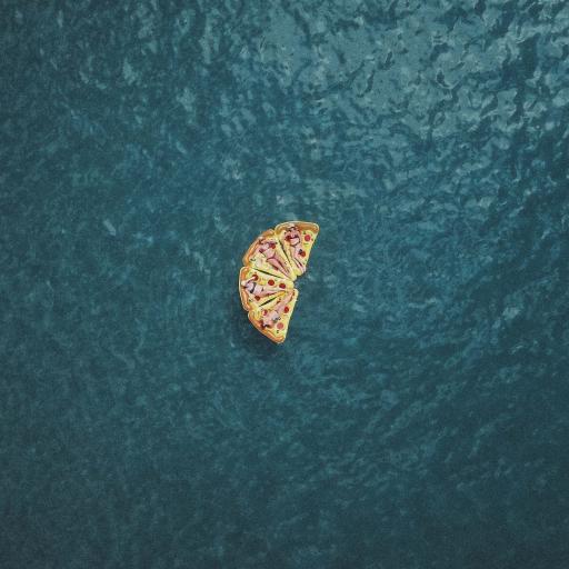 大海 创意摄影 披萨浮床