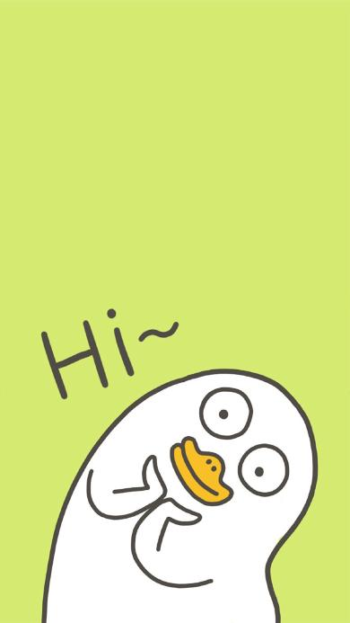 创意 hi 手绘 卡通 鸭嘴兽