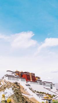拉萨 布达拉宫 旅游胜地 美景