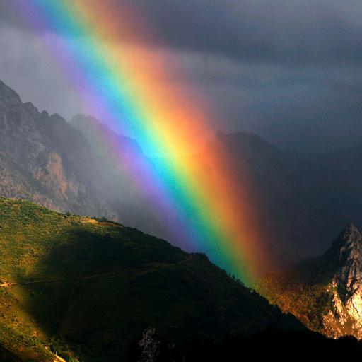 彩虹 风景 山谷 色彩