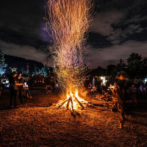 火堆 火花 篝火晚会 节日