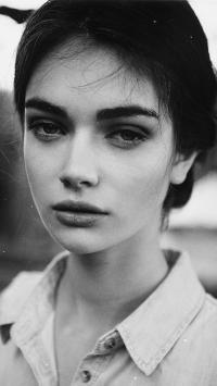 欧美美女 浓眉大眼 黑白