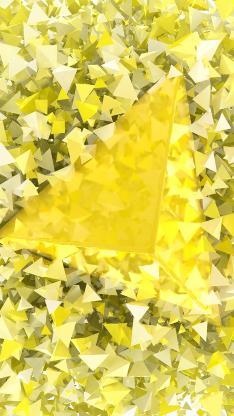 几何 色彩 黄色 三角形 锥形