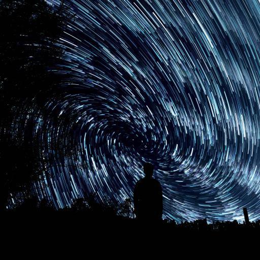 夜空 长时间曝光摄影 流星 唯美 背影 黑暗
