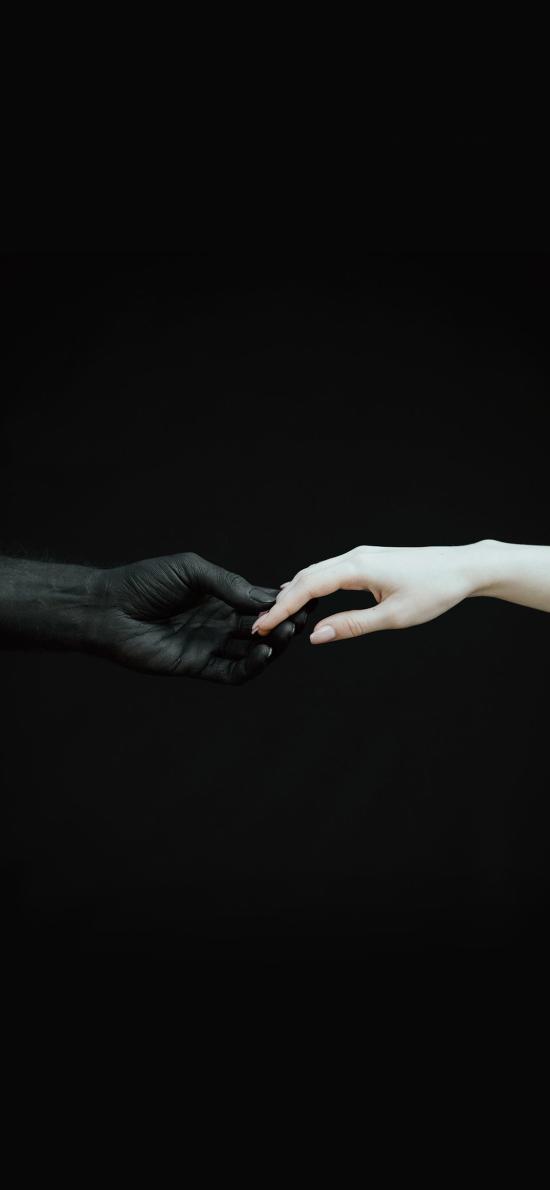 手 摄影 公益 黑白 反对性侵害 暴力
