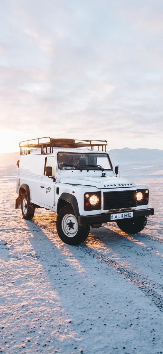 路虎 越野 吉普车 雪地 极限 探险