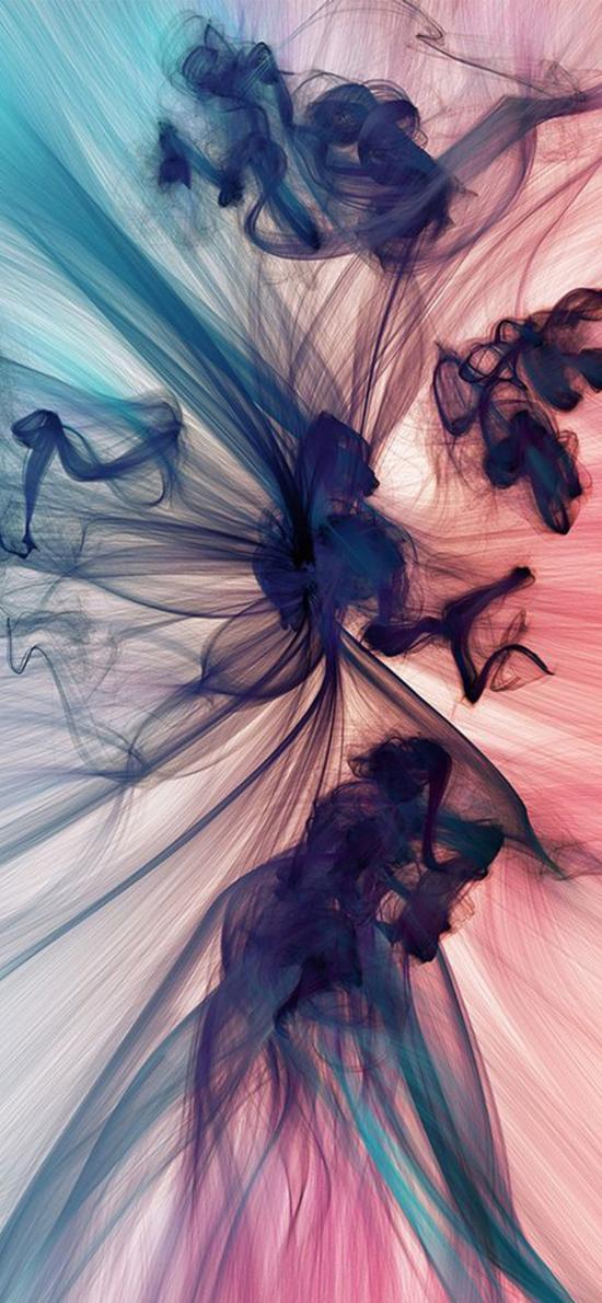 水墨 丝线 抽象 朦胧 彩色