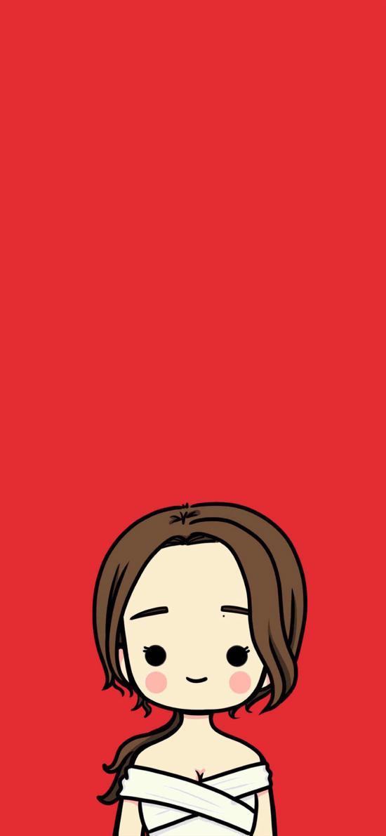 卡通 新娘 红色