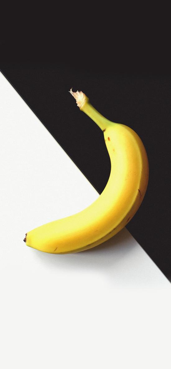 香蕉 水果 黑白 创意