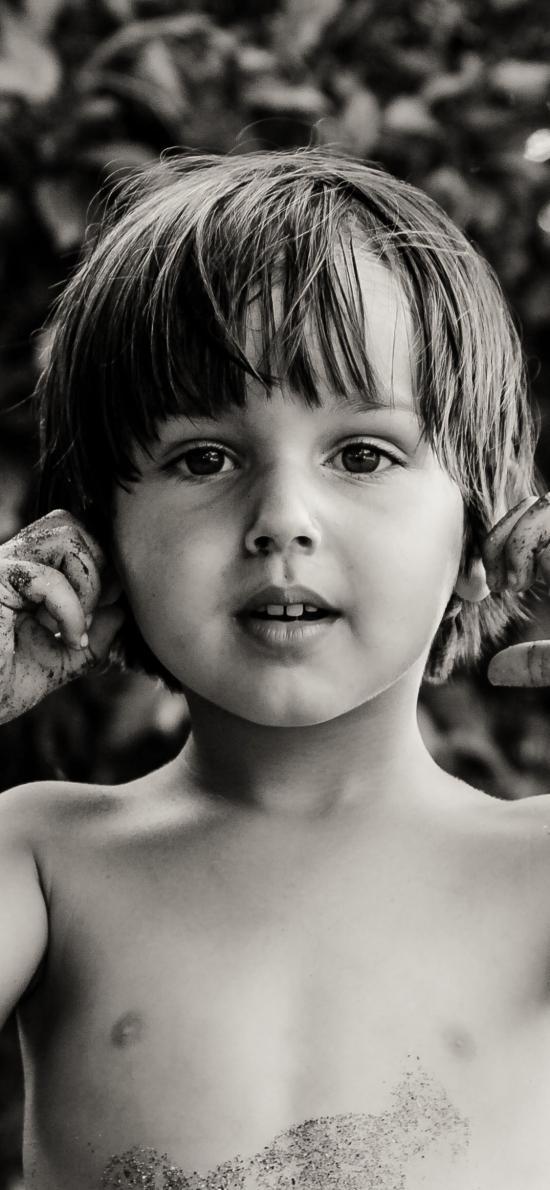 欧美萌娃 小男孩 黑白 大眼睛