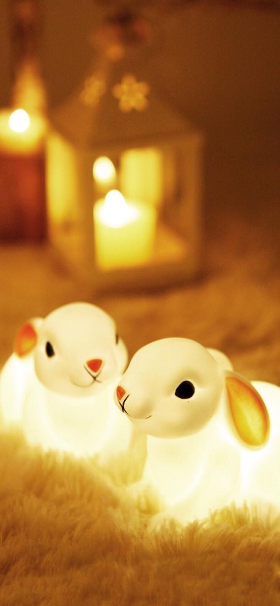 创意夜灯 兔子造型 可爱