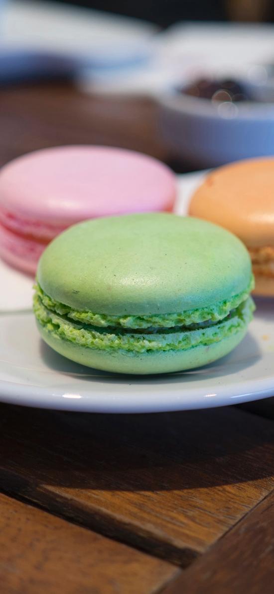 法国甜品 马卡龙 糖果色