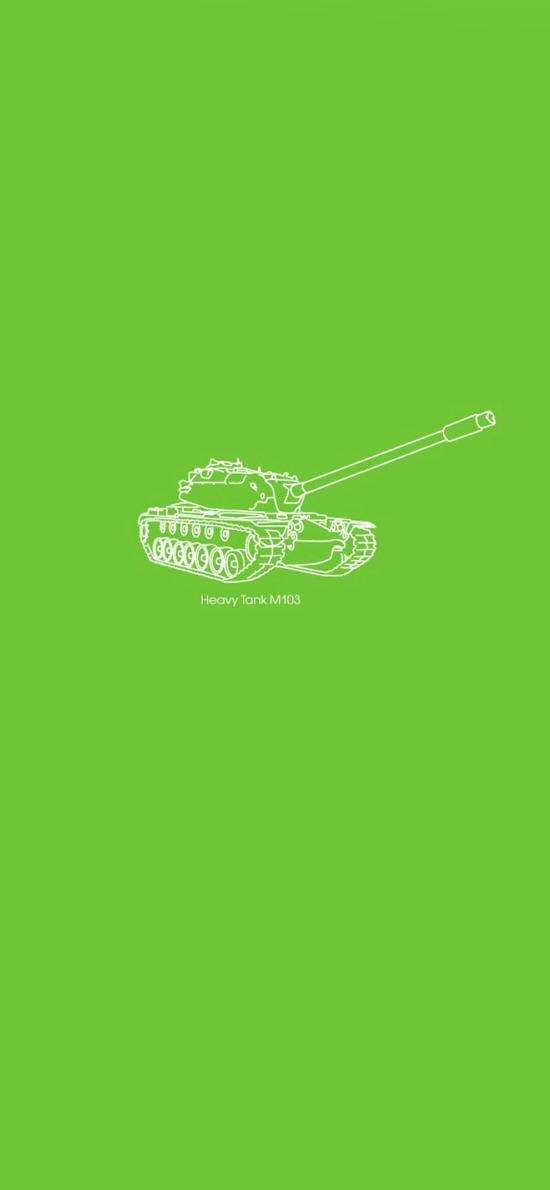 创意 手绘 坦克 绿