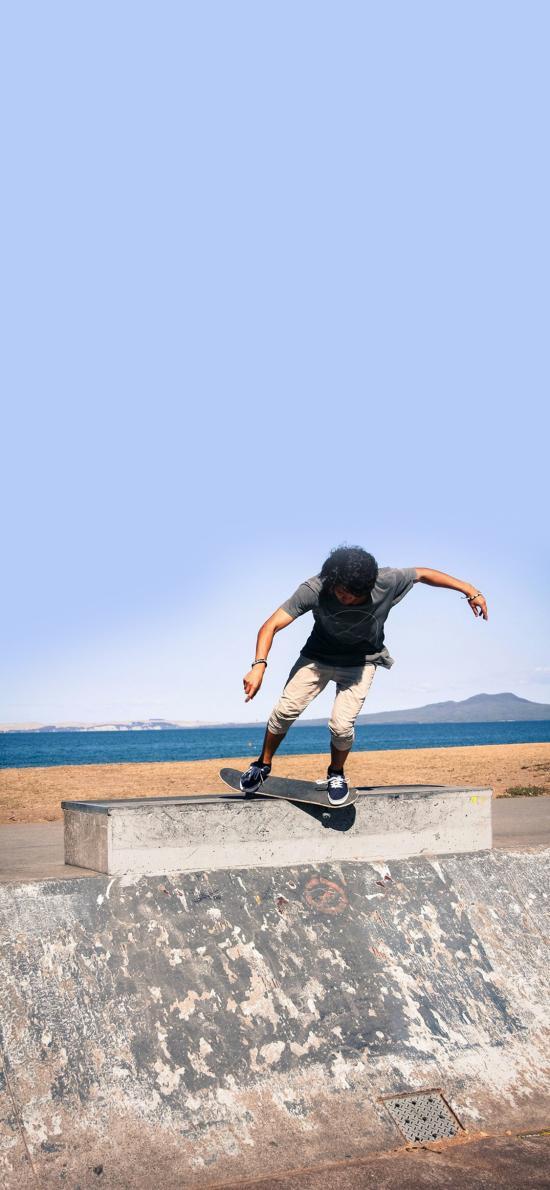 滑板 运动 体育 街头 少年