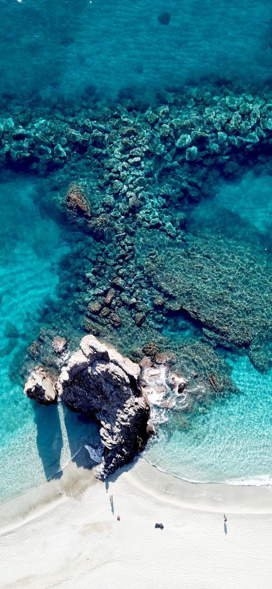 礁石 海岸 海边 海水