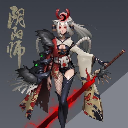 阴阳师 妖刀姬 鬼甲妖刀 原画 角色