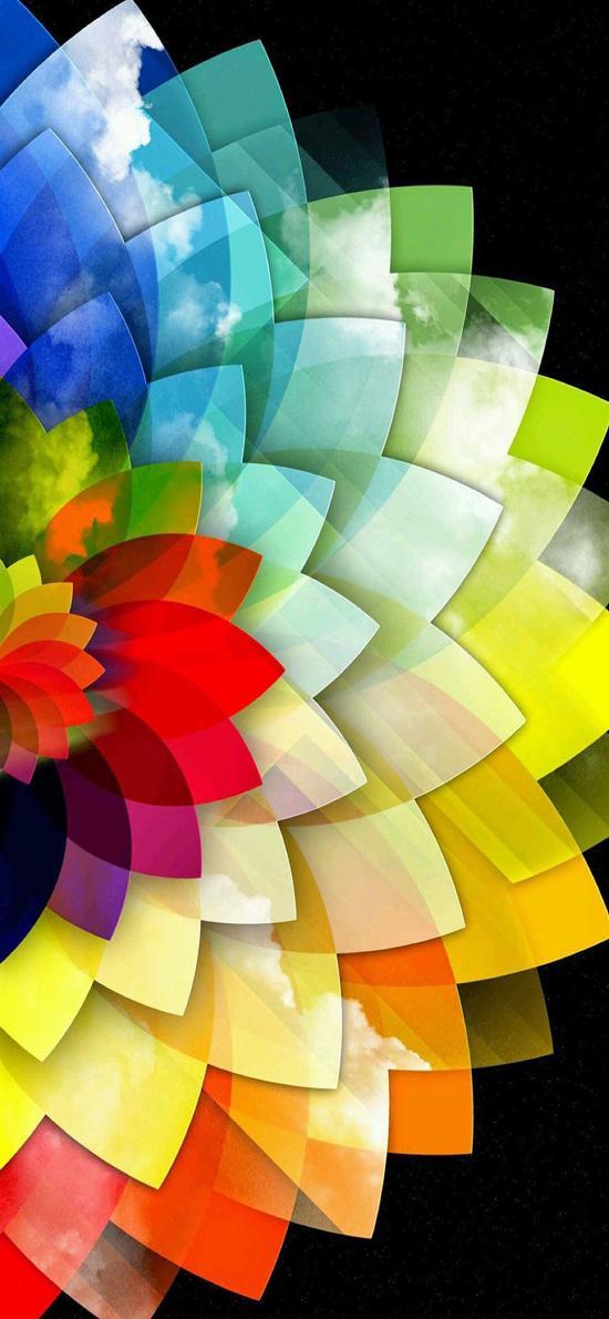 创意 彩色 花瓣 色块