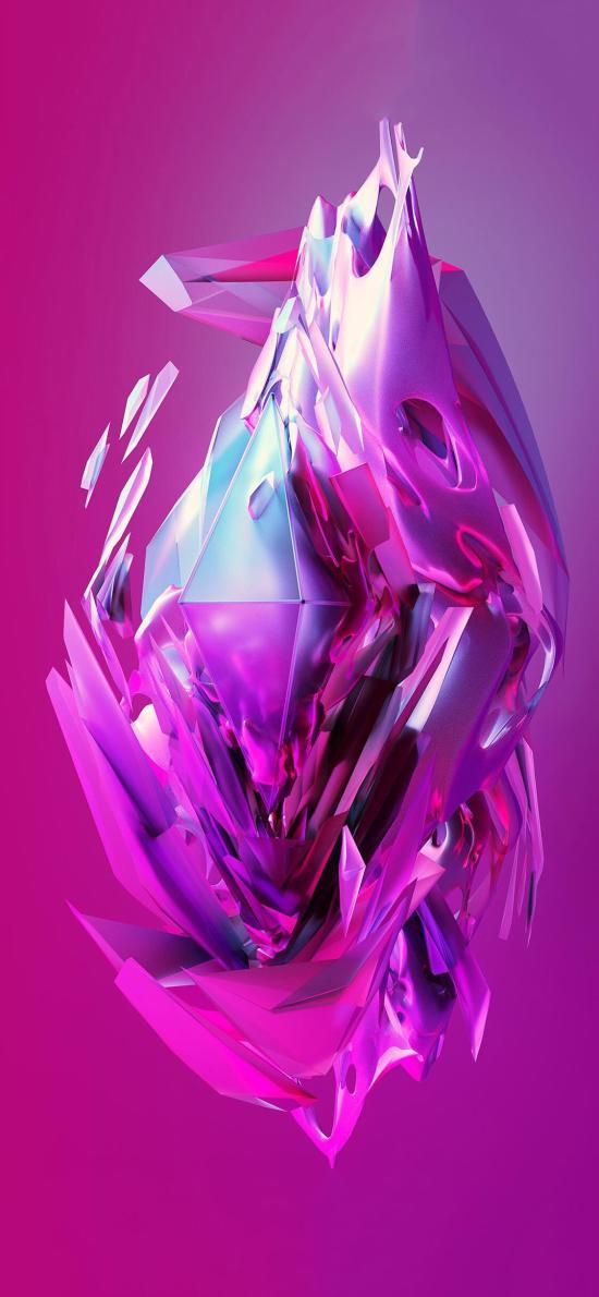 空间 抽象 紫色 构成