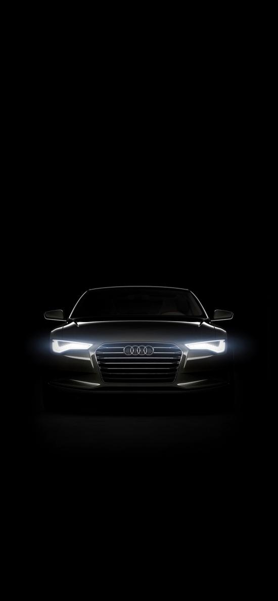 奥迪 黑色 汽车 炫酷 灯光