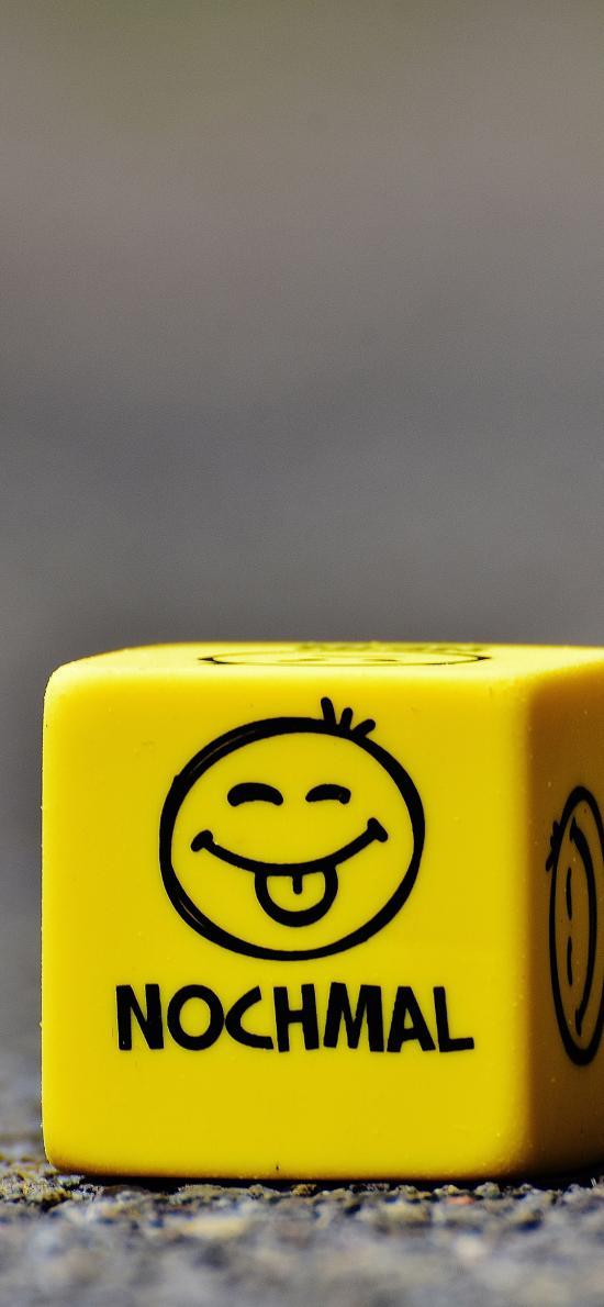 黄色 立方体 心情 笑脸 静物 玩具