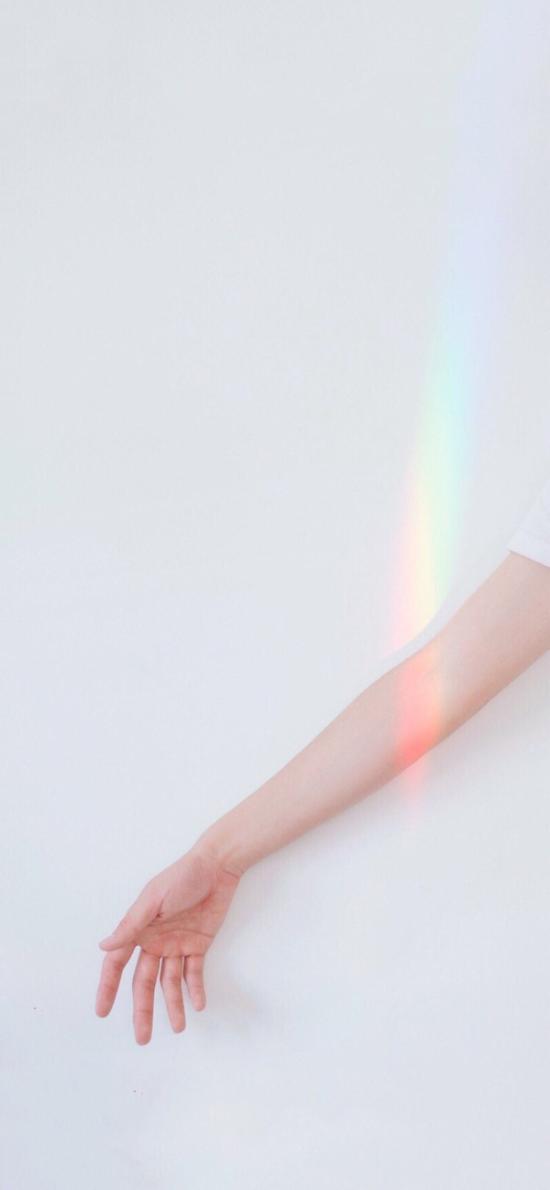 手控 光 彩虹 简约