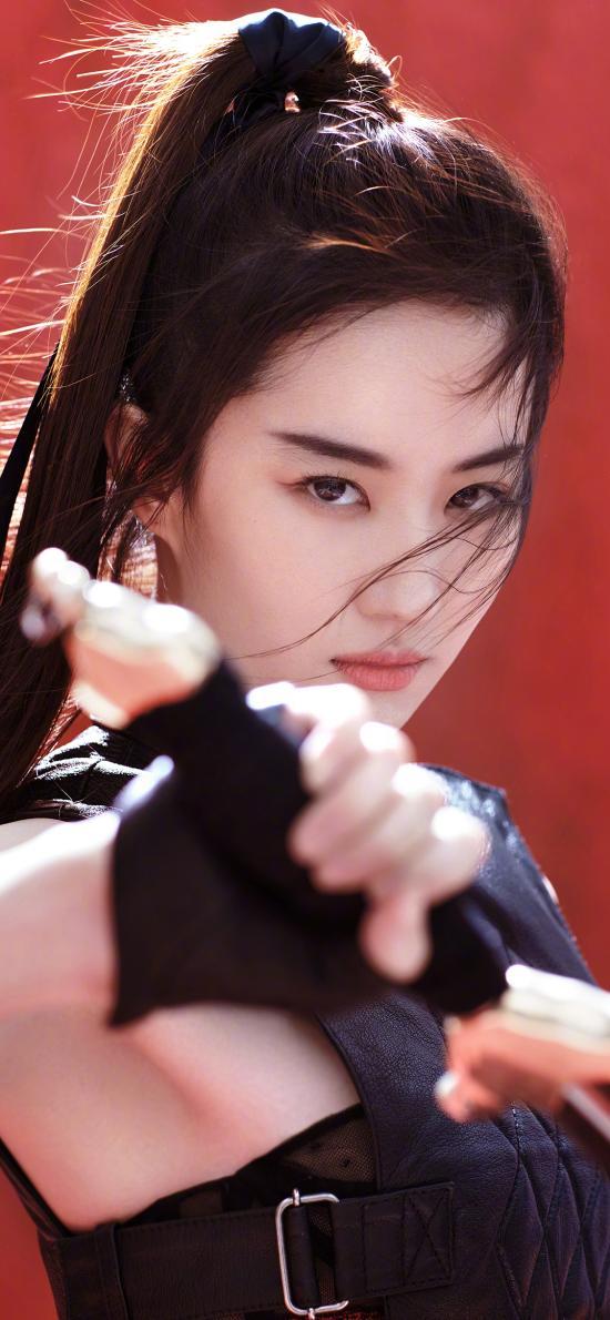 刘亦菲 神仙姐姐 花木兰 剑 演员 古风 写真