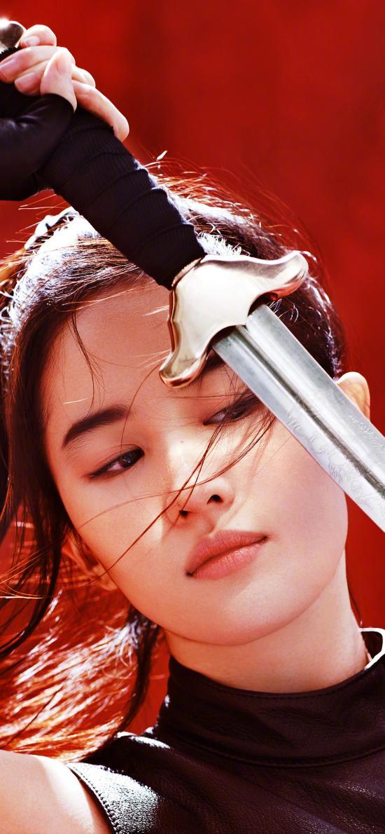 刘亦菲 神仙姐姐 花木兰 剑 古风 演员 写真