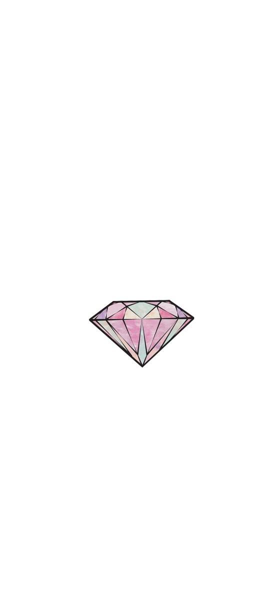 钻石 手绘 色彩 简约