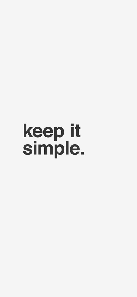 keep it simple 保持简单 黑白 英文