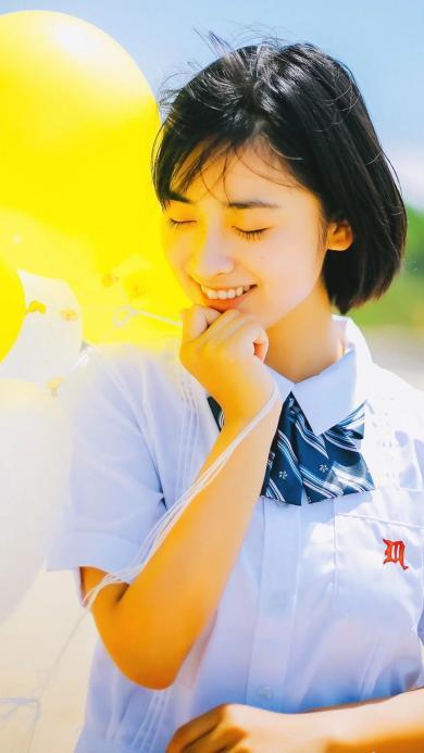 沈月 女演员 清新写真 气球