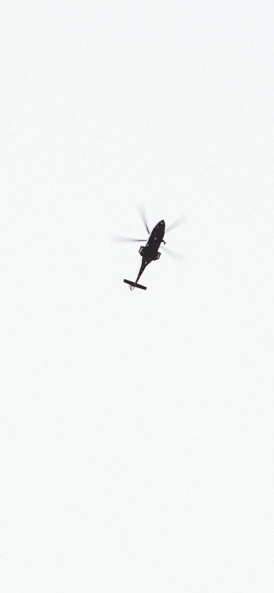 直升机 高空 航行