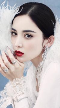 古力娜扎 演员 明星 白色 写真 羽毛
