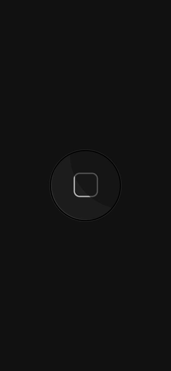 home 键 手机 按钮 黑色 简约