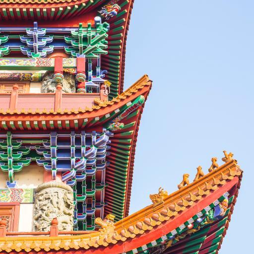 建筑 屋檐 色彩 国风