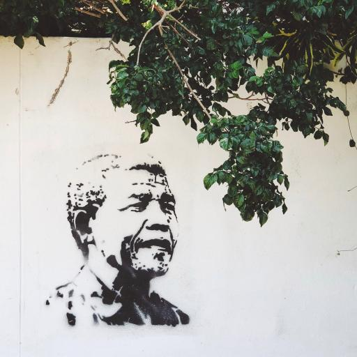 墙壁 手绘壁画 老人 树木