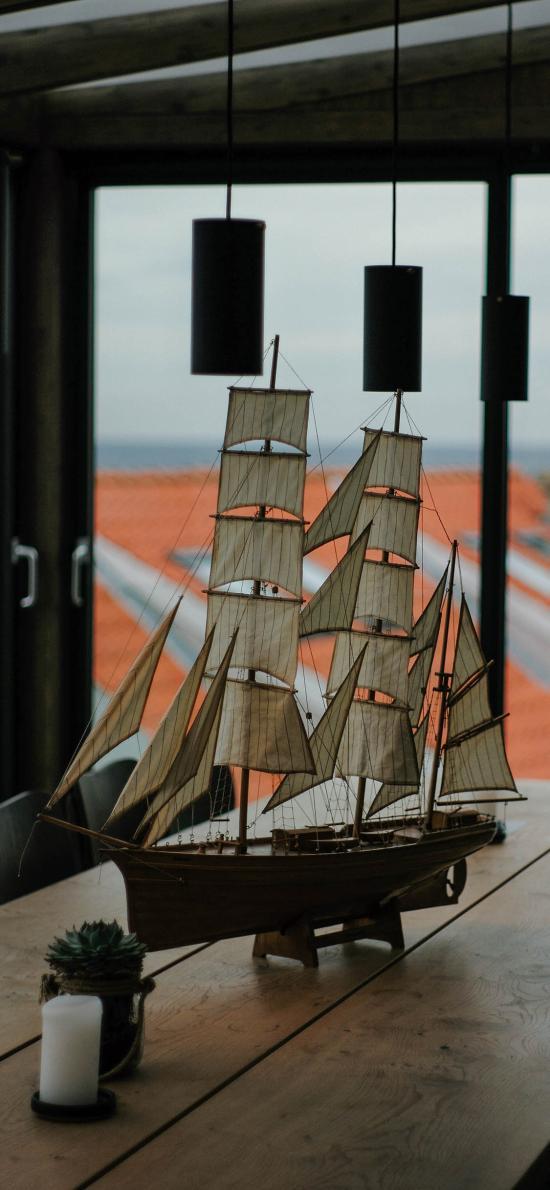 摆件 装饰品 帆船 工艺