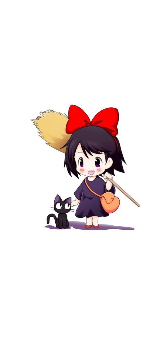 魔女宅急便 Q版 宫崎骏 可爱 黑猫 日本 动画