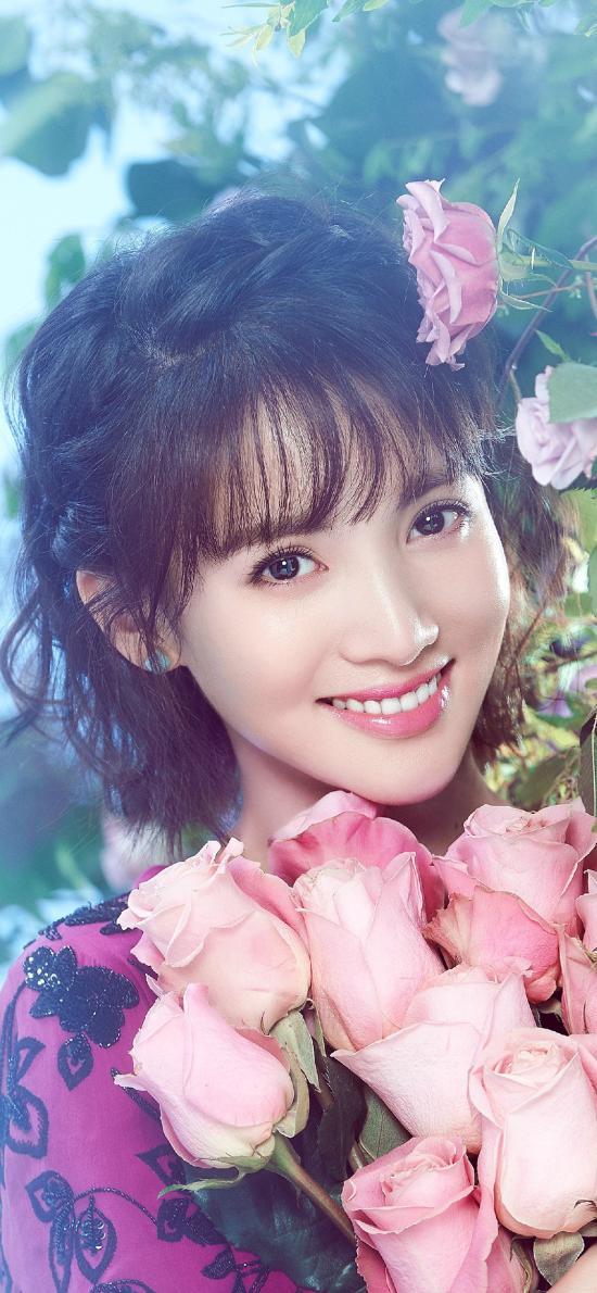 金晨 演员 鲜花 写真 唯美 明星