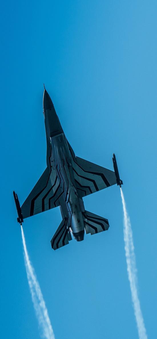战斗机 飞行 航空 蓝色 空军