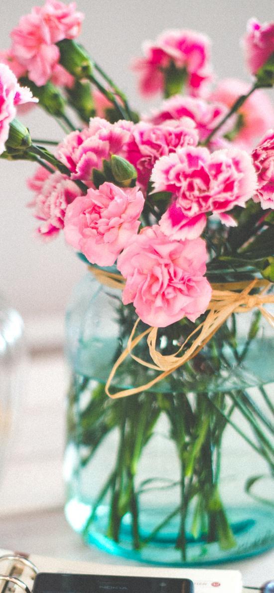 花瓶 鲜花 盛开 笔记本 色彩