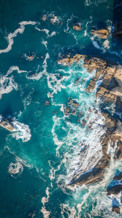 海岸 礁石 海浪 侵蚀