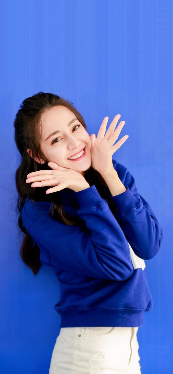 迪丽热巴 胖迪 演员 明星 艺人 蓝色