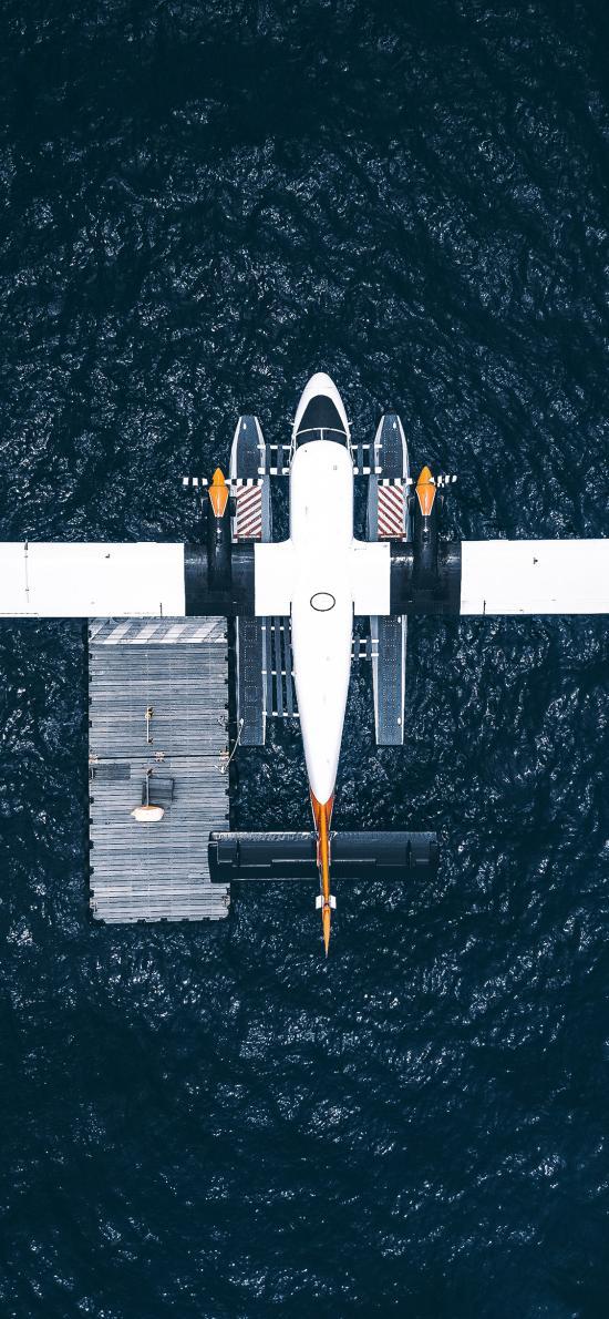 滑翔机 色彩 海洋 海上停靠
