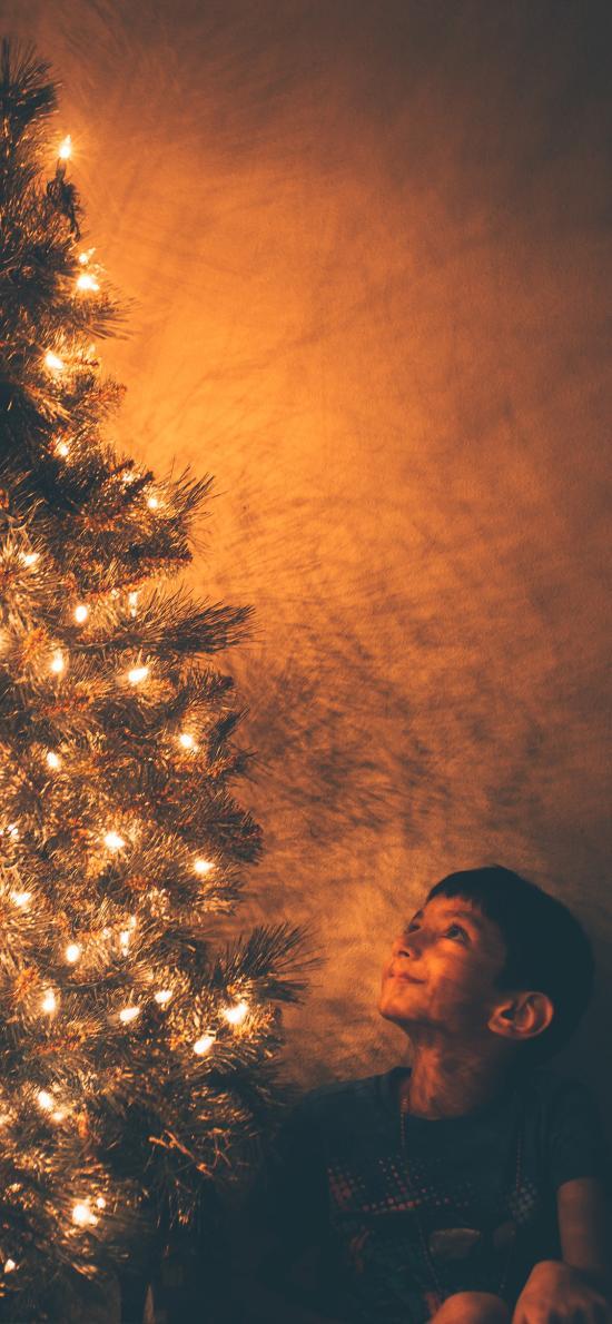 欧美萌娃 圣诞树 圣诞节