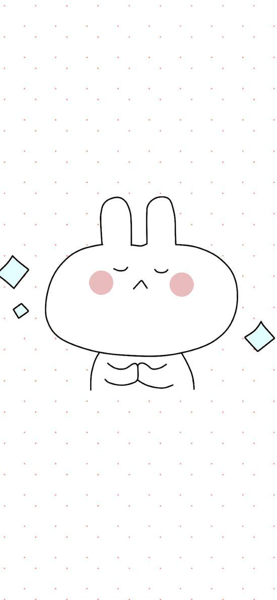 情侣壁纸 兔子 简约 可爱 手绘