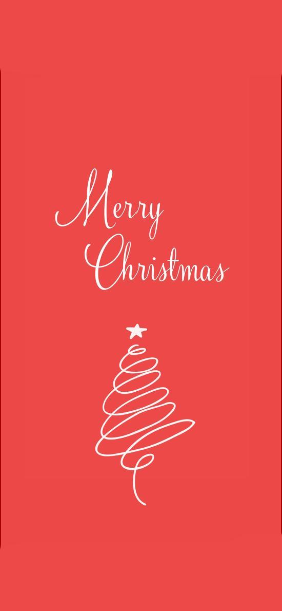 创意 简笔画 圣诞树 MerryChristmas
