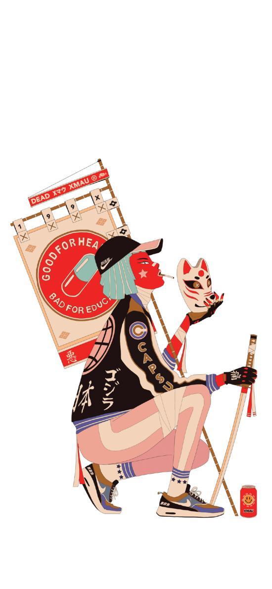 银魂插画 创意 日系