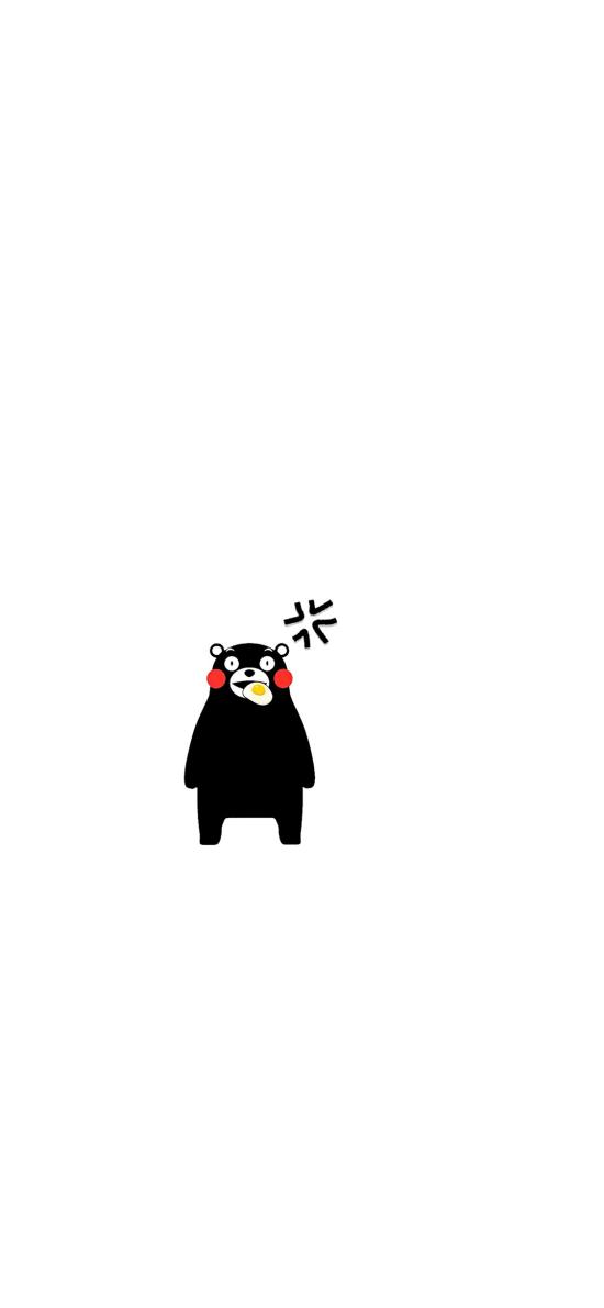 熊本熊 黑白 可爱 日本 人气卡通